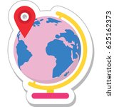 geography vector icon | Shutterstock .eps vector #625162373