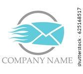fast mail logo   Shutterstock .eps vector #625168517