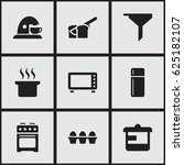 set of 9 editable cooking icons....