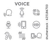 voiceover or voice command icon ... | Shutterstock .eps vector #625186703
