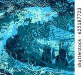 blue artistic neo grunge style... | Shutterstock .eps vector #625187723