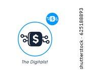 the digitalis. modern website... | Shutterstock .eps vector #625188893