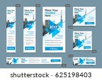 blue color scheme with city... | Shutterstock .eps vector #625198403