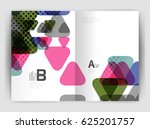 vector triangle business annual ... | Shutterstock .eps vector #625201757