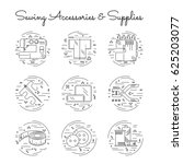 sewing accessories and supplies ... | Shutterstock .eps vector #625203077