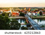kaunas  lithuania. aerial view... | Shutterstock . vector #625212863