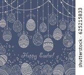 invitation happy easter... | Shutterstock .eps vector #625215833
