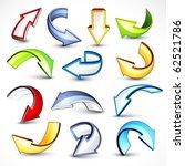 colour arrows | Shutterstock .eps vector #62521786