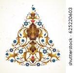 vector vintage decor  ornate... | Shutterstock .eps vector #625220603