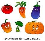 cheerful carrots  pumpkin ... | Shutterstock . vector #625250153