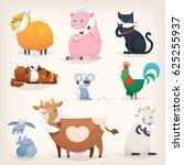 set of popular colorful vector... | Shutterstock .eps vector #625255937