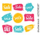 set of sale template icons.... | Shutterstock .eps vector #625258187