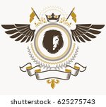 heraldic sign  element ... | Shutterstock . vector #625275743