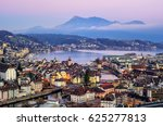 Aerial View Of The Old Town Of...