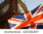 union jack flag and iconic big... | Shutterstock . vector #625282697