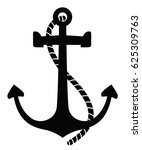 Vector Anchor. Isolated...