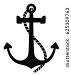 Vector Anchor. Isolated...