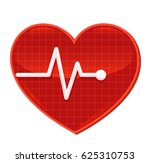 vector heart pulse. isolated... | Shutterstock .eps vector #625310753