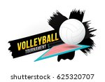 volleyball tournament badge... | Shutterstock .eps vector #625320707