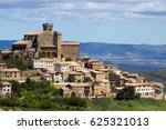 landscape view on the town ujue ... | Shutterstock . vector #625321013