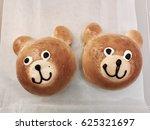 bear smile face shape bread | Shutterstock . vector #625321697