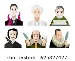 great six writers from all the... | Shutterstock .eps vector #625327427