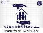 family house icon vector... | Shutterstock .eps vector #625348523