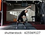 young man preparing muscles... | Shutterstock . vector #625369127