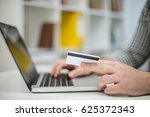online shopping in office using ... | Shutterstock . vector #625372343