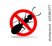 anti ant  no ants  vector sign... | Shutterstock .eps vector #625381577