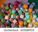colorful abstract geometric... | Shutterstock . vector #625386923