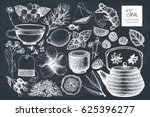 vector collection of hand drawn ... | Shutterstock .eps vector #625396277