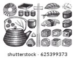 vector collection of hand drawn ... | Shutterstock .eps vector #625399373