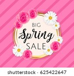 big spring sale banner template ... | Shutterstock .eps vector #625422647