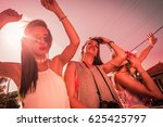 group of young and cute girls...   Shutterstock . vector #625425797