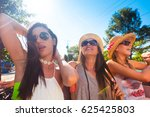 group of young and cute girls...   Shutterstock . vector #625425803