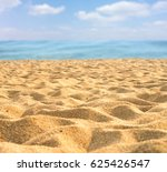 sand beach and blue sky | Shutterstock . vector #625426547