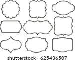 vector set vintage labels and... | Shutterstock .eps vector #625436507