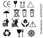 black fragile symbol | Shutterstock .eps vector #625440137