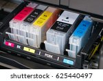 ink cartridges inside printer   ... | Shutterstock . vector #625440497
