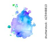 abstract hand drawn watercolor... | Shutterstock .eps vector #625448813
