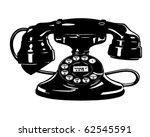 retro telephone 4   clipart... | Shutterstock .eps vector #62545591