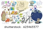 colored doodle scientific... | Shutterstock .eps vector #625465577