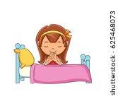 girl praying bed | Shutterstock .eps vector #625468073