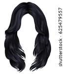 trendy woman long hairs... | Shutterstock .eps vector #625479557