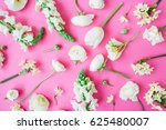 Floral Pattern Of White Flower...