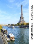 a cityscape of paris with... | Shutterstock . vector #625484237