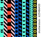 retro color tribal seamless... | Shutterstock . vector #625486433