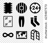 Style Icons Set. Set Of 9 Styl...