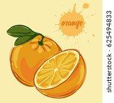 hand draw of orange | Shutterstock .eps vector #625494833